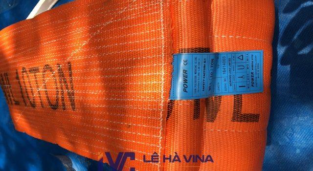 Cáp vải cẩu hàng bản rộng, Cáp vải bản rộng, cáp vải, cáp vải cẩu hàng, Cáp vải cẩu hàng bản rộng 100mm, cáp vải bản rộng 100mm