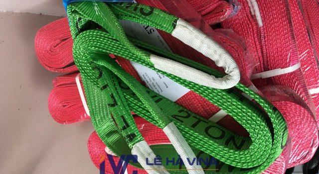 dây cáp vải cẩu hàng, cáp vải 2 tấn bản dẹt, cáp vải 2 tấn, cáp vải