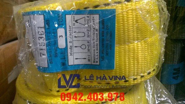 cáp vải nâng hàng 10 tấn, cáp vải, cáp nâng hàng, cáp vải cẩu hàng, cáp nâng hàng 10 tấn