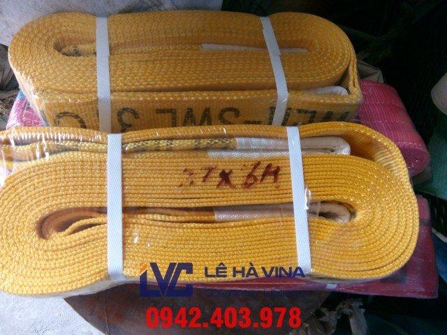 cáp vải, cáp vải cẩu hàng, cáp vải cẩu hàng 3 tấn, thông số kỹ thuật cáp vải, Cáp vải