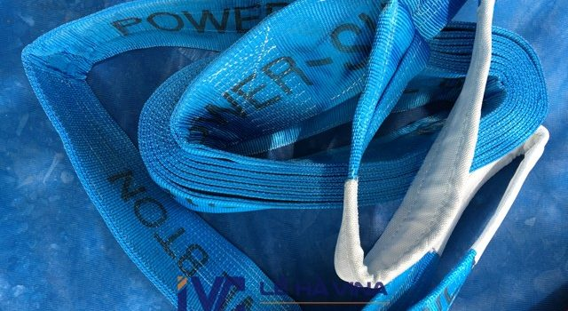 cáp vải cẩu hàng, cáp vải, thông số kỹ thuật cáp vải, cáp vải cẩu hàng 8 tấn, cáp vải 8 tấn