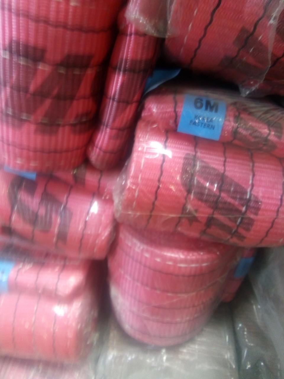 Cáp vải cẩu hàng bản dẹt Hàn Quốc 5 tấn, Cáp vải cẩu hàng bản dẹt Hàn Quốc, Cáp vải cẩu hàng bản dẹt, Cáp vải cẩu hàng, Cáp vải, Cấu tạo của cáp vải cẩu hàng, ma ní, tăng đơ, khóa cáp