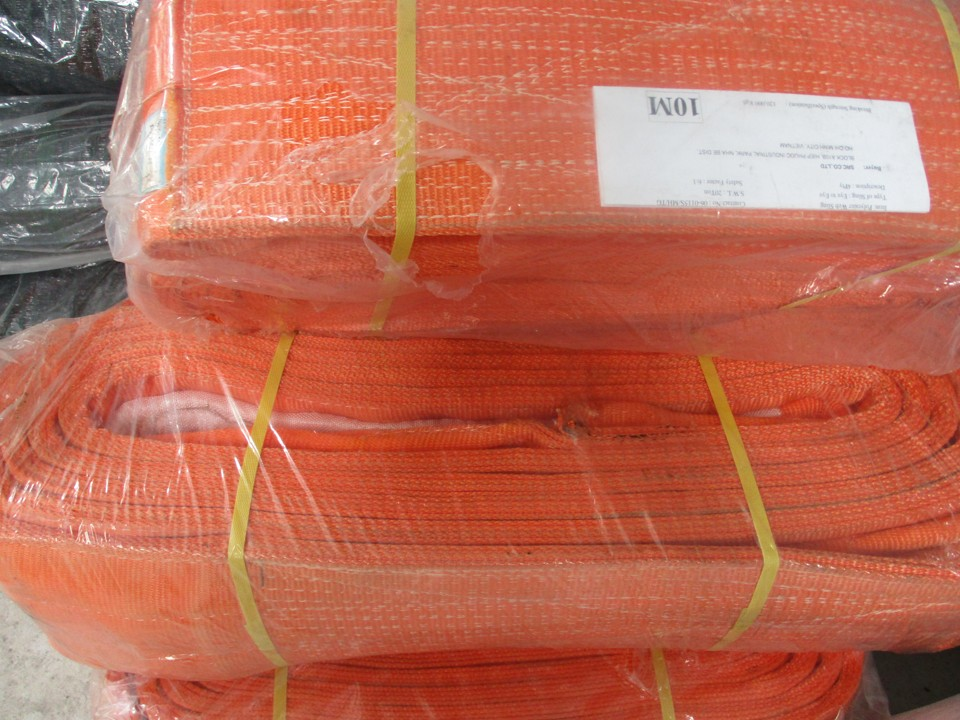 Cáp cẩu vải, Cáp vải cẩu hàng bản dẹt, Cáp vải Hàn Quốc, Cáp vải Hàn Quốc bản tròn 20 tấn
