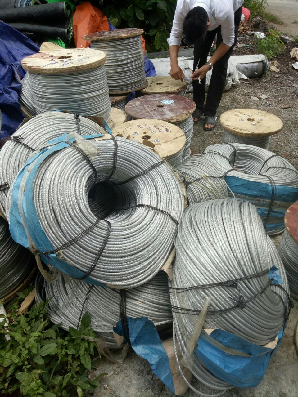 Cáp bọc nhựa 3mm, Địa chỉ bán cáp chất lượng, Địa chỉ cung cấp cáp bọc nhựa, Lớp vỏ nhựa bao bọc, Dây cáp bọc nhựa