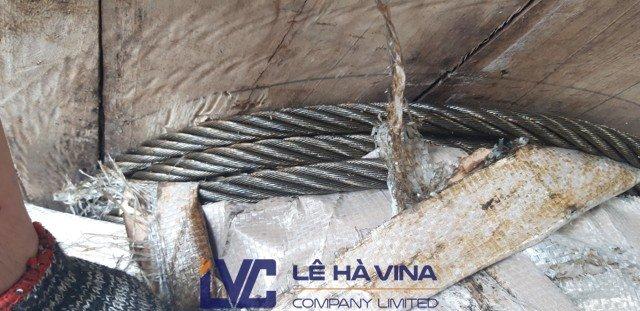 Cáp thép bấm chì, Cáp thép thông thường, Công ty TNHH Lê Hà Vina, Dây cáp, Mua sling cáp thép bấm chì D38, Sling cáp thép bấm chì D38